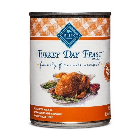 Blue Buffalo Family Favorites Turkey Day Feast Dinner - Wet Dog Food - 12.5oz - image 1 of 2
