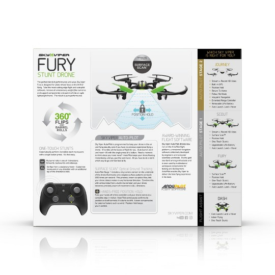 Sky Viper FURY Stunt Drone with Surface Scan image number null