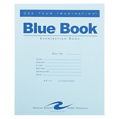 Roaring Spring  4 Sheet Legal Ruled Exam Blue Book - image 1 of 1
