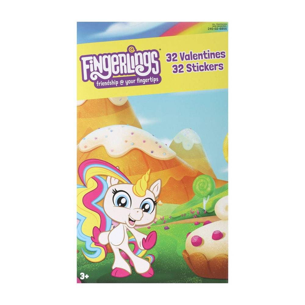 Image of Fingerlings 32ct Deluxe Valentines With Stickers