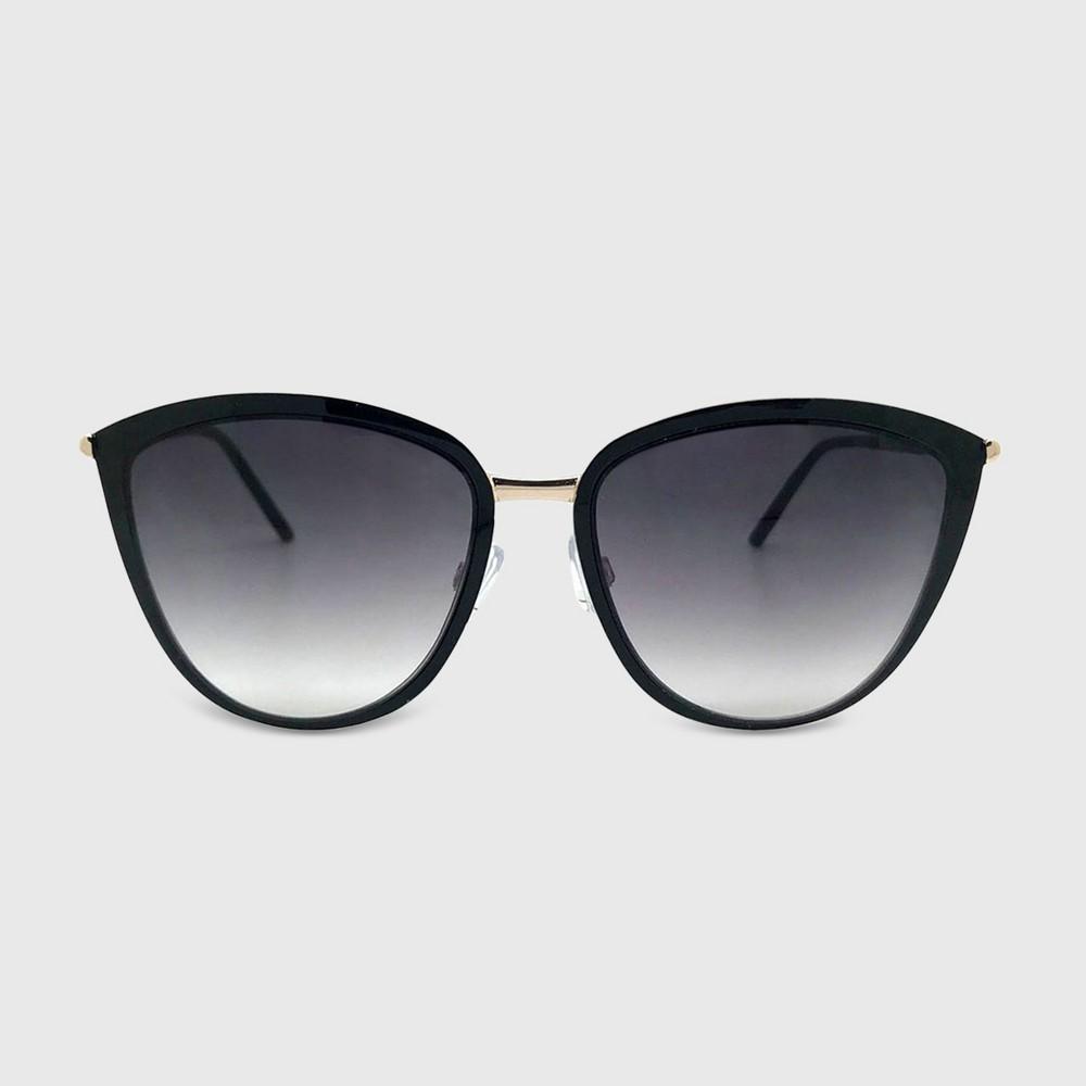 Women's Cat Eye Sunglasses - A New Day Black