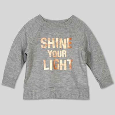 Afton Street Baby Girls' Sweatshirt - Gray 3-6M