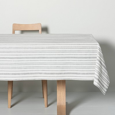 Multistripe Tablecloth Black/Sour Cream - Hearth & Hand™ with Magnolia