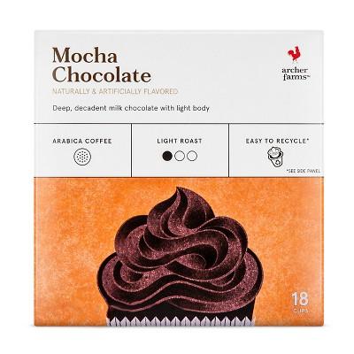 Mocha Chocolate Light Roast Coffee -Single Serve Pods - 18ct - Archer Farms™