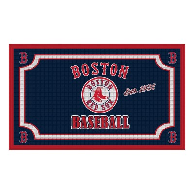 Boston Red Sox Embossed Welcome Mat - 18 x30