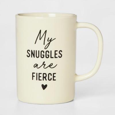 14oz Porcelain My Snuggles Are Fierce Mug Yellow - Threshold™