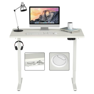 Costway Electric Standing Desk Sit to Stand Height Adjustable Dual Motor White/Black/Grey