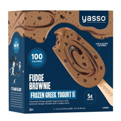 Yasso Frozen Greek Yogurt - Fudge Brownie Bars - 4ct