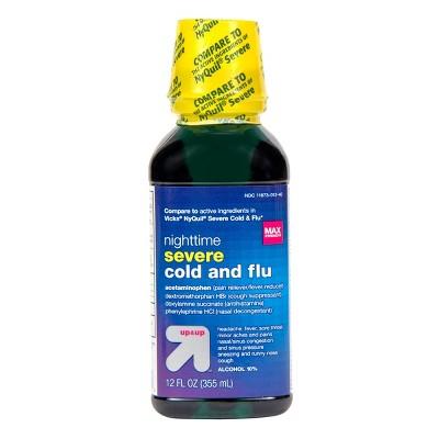Nighttime Severe Cold & Flu Relief Liquid - Original - 12 fl oz - up & up™