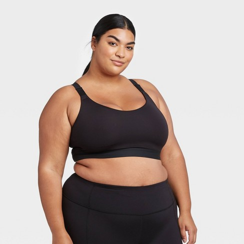 Women's Plus Size Medium Support Wide Strap Bra - All in Motion™ - image 1 of 4