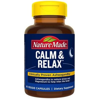 Nature Made Calm & Relax Veggie Capsules - 60ct