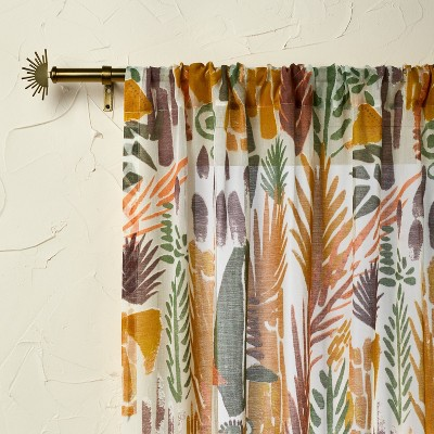 """84""""x54"""" Light Filtering Curtain Panel Burnout Sheer - Opalhouse™ designed with Jungalow™"""