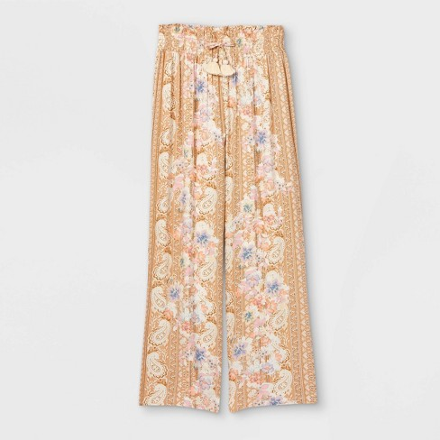 Girls' Smocked Waist Wide Leg Pants - art class™ - image 1 of 2