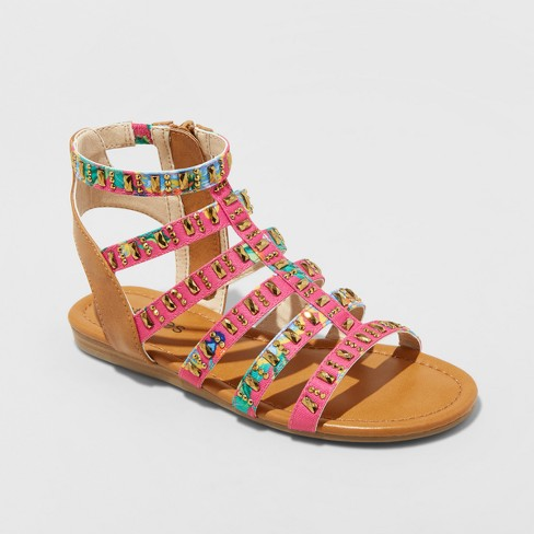 94fb71876c1a Girls  MoveNight Embellished Gladiator Sandals - Stevies Pink 13 ...