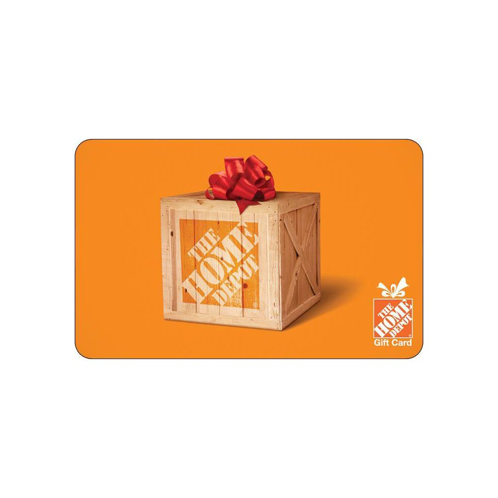 Home Depot Gift Card $100 (Email Delivery) Gift Card is valid for the purchase of merchandise/services at any The Home Depot? store in the U.S., Canada and online at HomeDepot.com. Gift Card is not a credit/debit card and is not redeemable for cash or credit unless required by law. Gift Card cannot be applied to any credit or loan balance, Tool Rental Deposits, or for in-home purchases. To replace a lost or stolen Gift Card, visit your local store. Lost, stolen or damaged Gift Cards will not be replaced without proof of purchase. Replacement value is the value of the Gift Card at the time it is reported lost or stolen. Gift Cards purchased with cash will not be replaced unless required by law. Returns for purchases made with this Gift Card are subject to The Home Depot?s Returns Policy (details available at any The Home Depot store) and eligible refunds will be issued in store credit. Gift Card may be deactivated or rejected if fraud is suspected in the issuer?s sole discretion. Check your balance at any The Home Depot store or online. Reload Gift Car