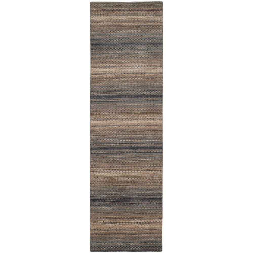2'2X8' Stripe Loomed Runner Gray - Safavieh