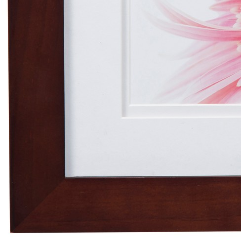 Single Image 8X8 Wide Walnut Frame with Double Mat to 5X5 - Gallery ...