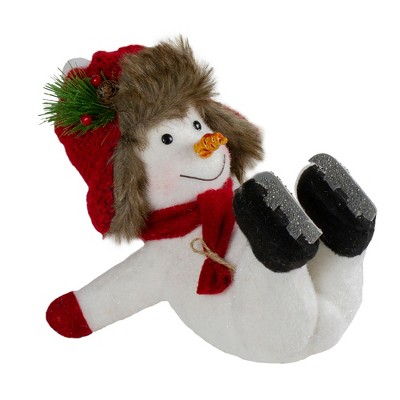 "Northlight 10"" Fallen Ice Skating Snowman Christmas Figure"