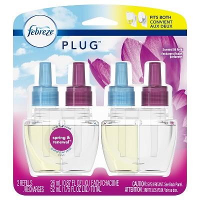 Febreze Plug Air Freshener Refills Spring & Renewal - 2ct 1.75oz