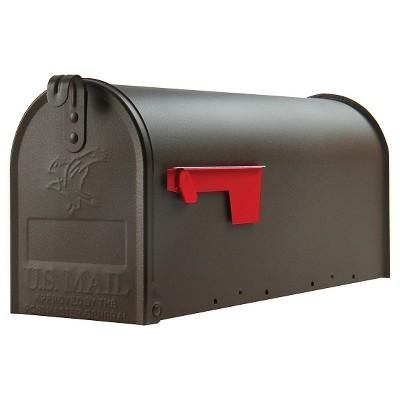 Gibraltar Elite Medium-Size Steel Post-Mount Mailbox - Bronze