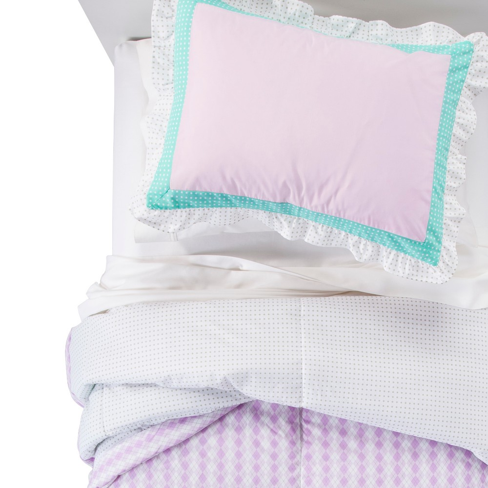 Image of Lovebirds Comforter Set (Twin) Purple - Pam Grace Creations, Green Purple