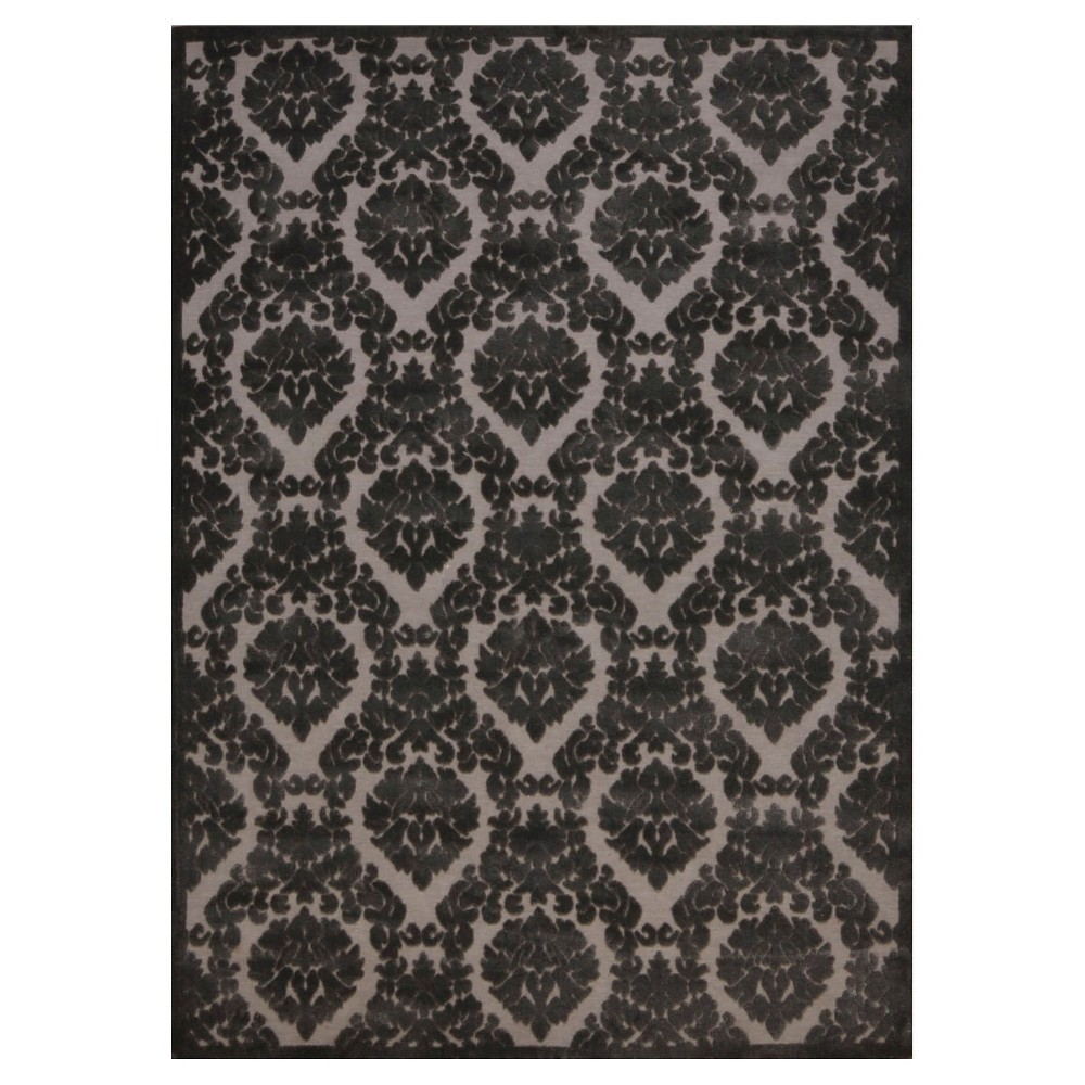 "Image of ""Nourison Damask Ultima Accent Rug - Silver/Gray (2'2""""X3'9"""")"""
