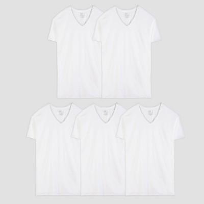 Fruit of the Loom Men's V-Neck T-Shirt 5pk - White 2XL