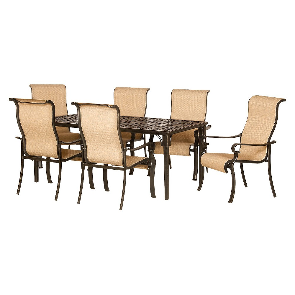 Image of Brigantine 7-Piece Sling Patio Dining Furniture Set