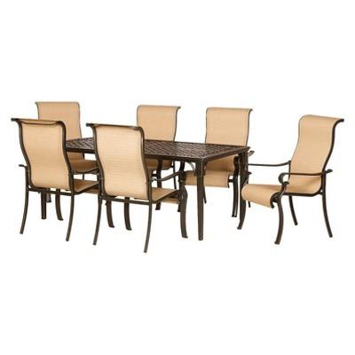 Brigantine 7 Piece Sling Patio Dining Furniture Set