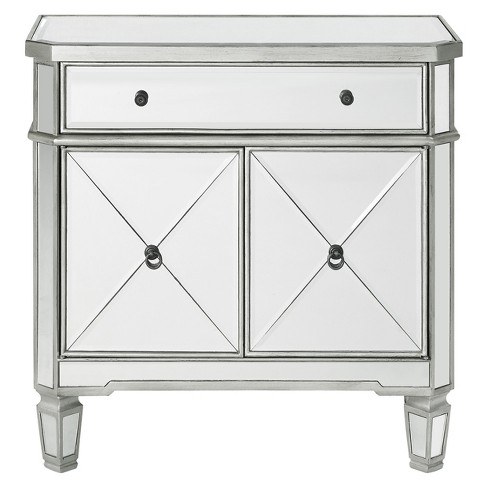 Sasha Mirrored 1drawer 2door Console, Target Mirror Table With Drawer