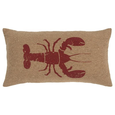 Lobster Poly Filled Pillow Red - Rizzy Home