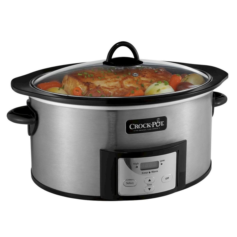 Crock-Pot 6 Qt. Slow Cooker – SCCPVI600-S, Silver 16391449