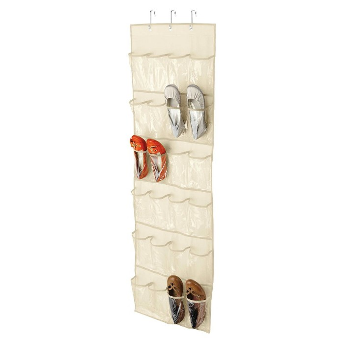 Honey-Can-Do Over The Door Clear Shoe Organizer and Storage Rack - Natural - image 1 of 1