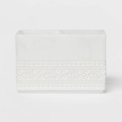 Carved Alabaster Resin Vanity Organizer White - Threshold™