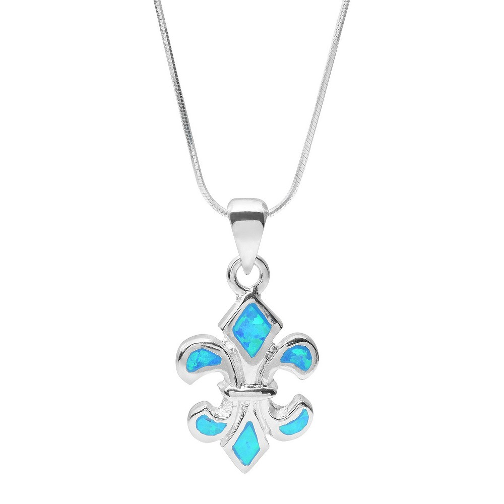 Women's Tressa Collection Fleur-de-lis Pendant Necklace - Silver & Blue (18) Women's Tressa Collection Fleur-de-lis Pendant Necklace - Silver & Blue (18) Gender: Female. Age Group: Adult.