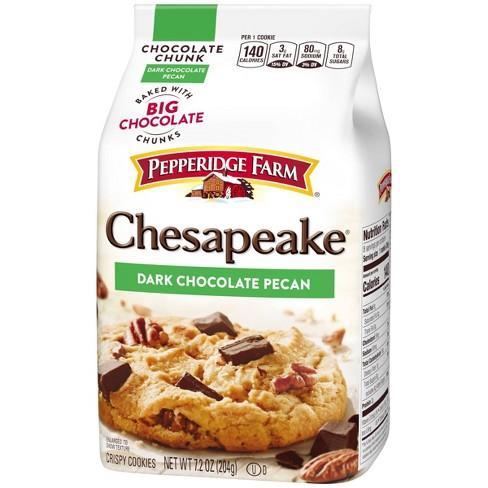 Pepperidge Farm Chesapeake Crispy Chesapeake Dark Chocolate Pecan Cookies 7 2oz Target
