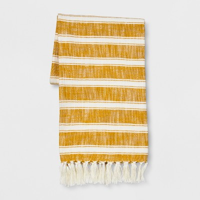 Yellow Cotton Woven Stripe Throw Blanket 50 X60  - Threshold™