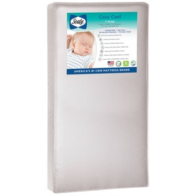 Sealy Cozy Cool 2-Stage Hybrid Crib and Toddler Mattress