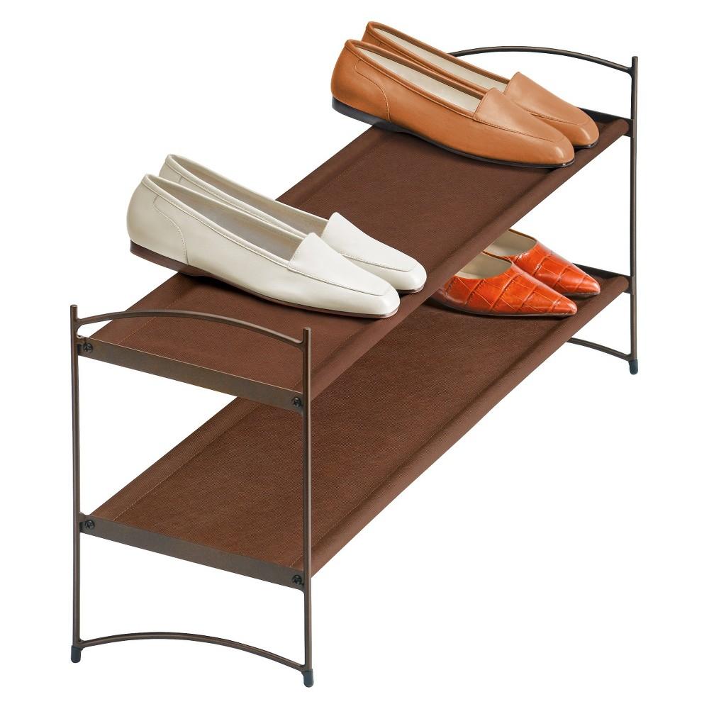 Image of Lynk Vela Stackable Shoe Shelves 2 Tier - Shoe Rack Shelf - Bronze