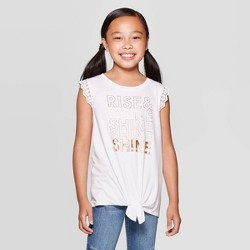 Girls' Tie Front Lace Tank Top - art class™