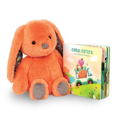 B. toys Board Book & Plush Set Happyhues - Coral Cutie