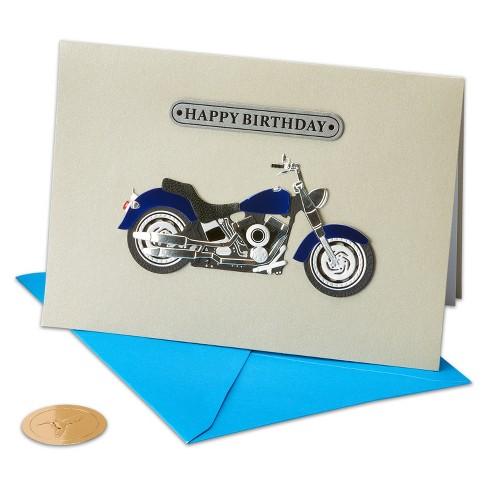 Papyrus Motorcycle Guy Greeting Card