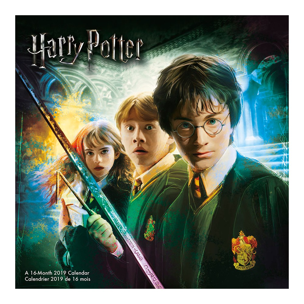 2019 Wall Calendar Harry Potter (Bilingual French) - Trends International, Multi-Colored