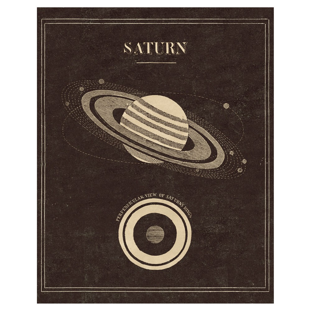Image of Astronomy 101 Saturn Unframed Wall Canvas Art - (24X30), Multi-Colored