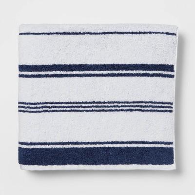 Performance Bath Towel Navy Stripe - Threshold™