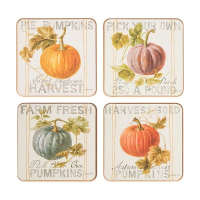 C&F Home Pumpkin Patch Fall Coaster, Set of 4