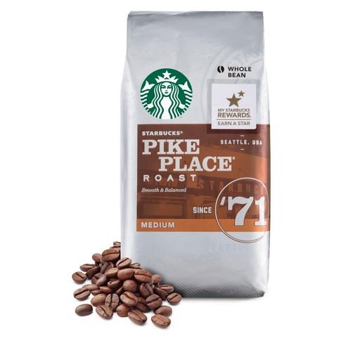 3ee7afbd4347e8 Starbucks Pike Place Roast Medium Roast Whole Bean Coffee - 12oz : Target