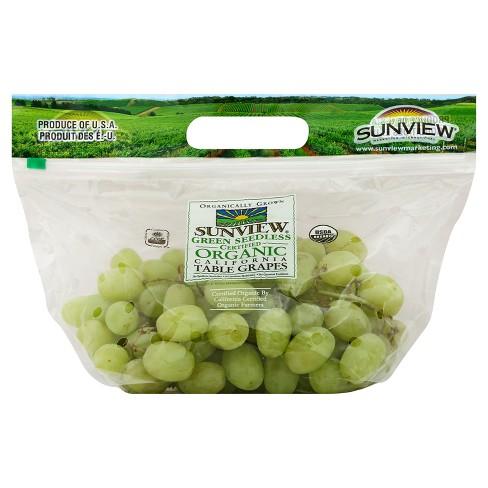 Organic Green Grapes - 1.5lb - image 1 of 2