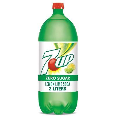 7UP Zero Sugar Soda - 2 L Bottle