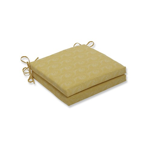 Nabil Sunflower 2pc Indoor/Outdoor Squared Corners Seat Cushion - Pillow Perfect - image 1 of 1